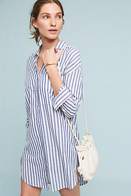 Slide View: 1: Noso Striped Shirtdress