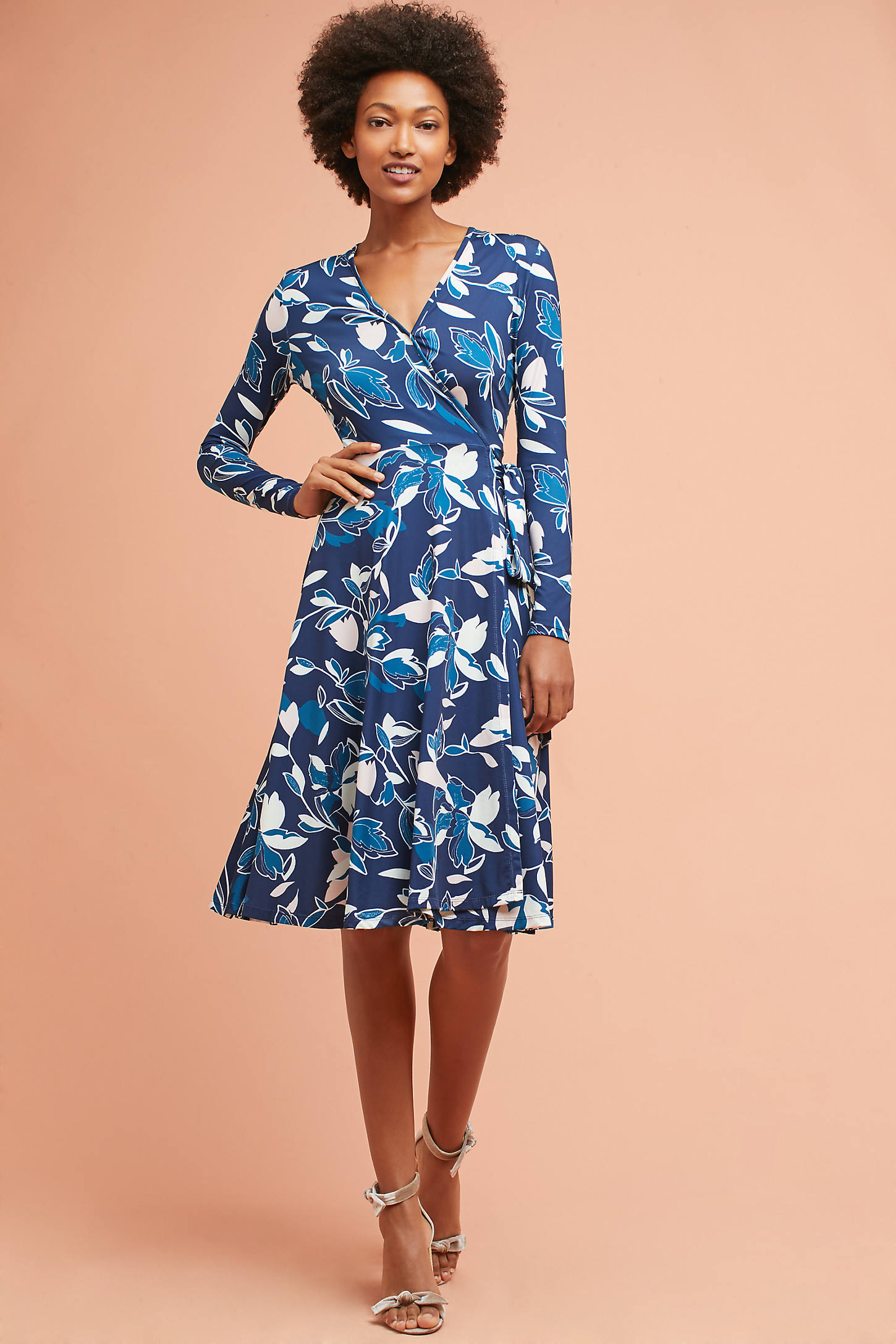 Frankie Silk Wrap Dress