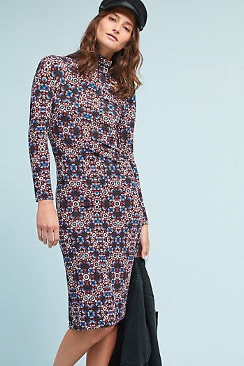 Yumi Kim Kenny Mock-Neck Dress