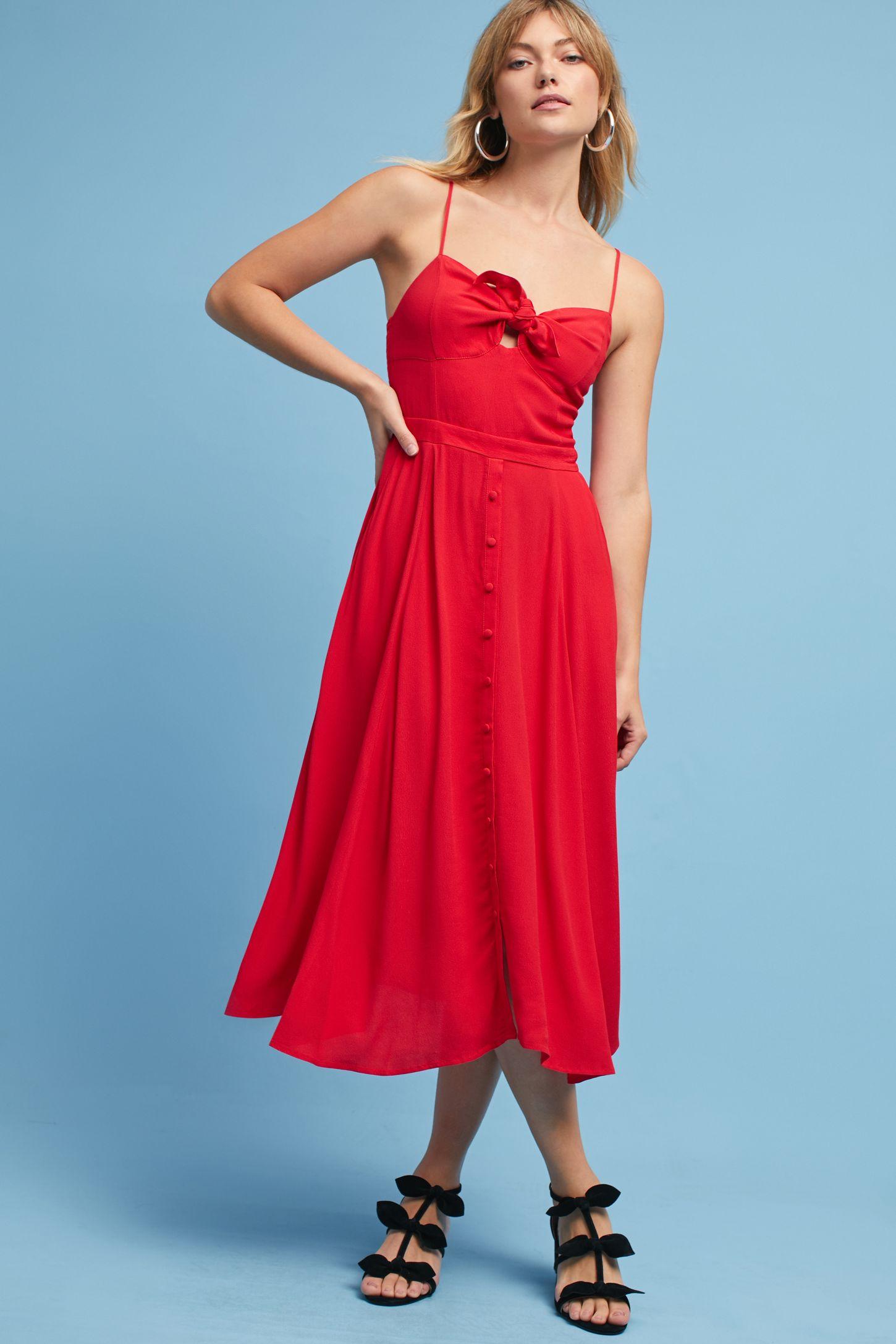 Desma Tie-Front Dress | Anthropologie