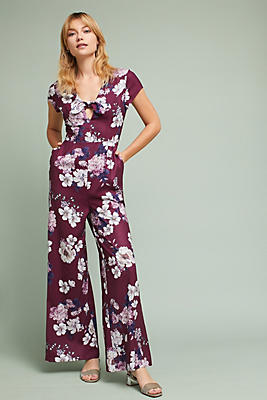 Slide View: 2: Yumi Kim Floral Cutout Jumpsuit