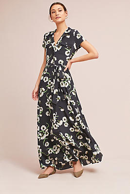 Slide View: 1: Tara Silk Maxi Dress