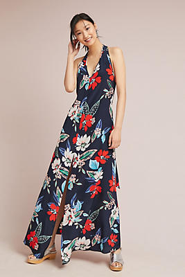 Slide View: 1: Yumi Kim Silk Hibiscus Maxi Dress
