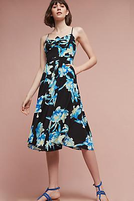 Slide View: 1: Vita Silk Midi Dress