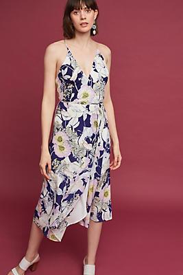Slide View: 1: Philomena Silk Midi Dress