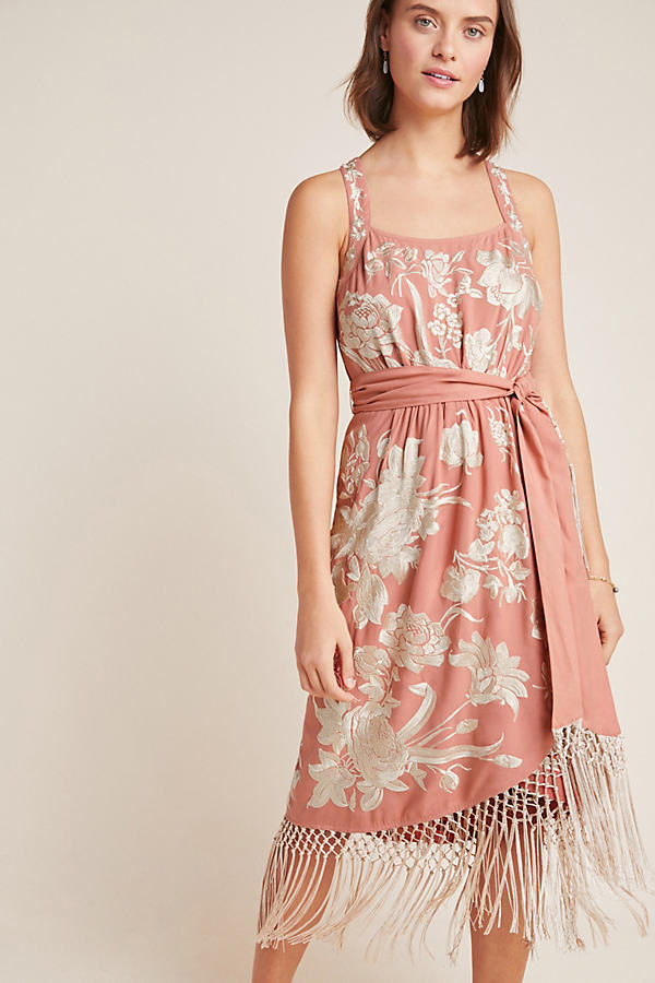 Lucille Dress - Pink, Size Uk 14