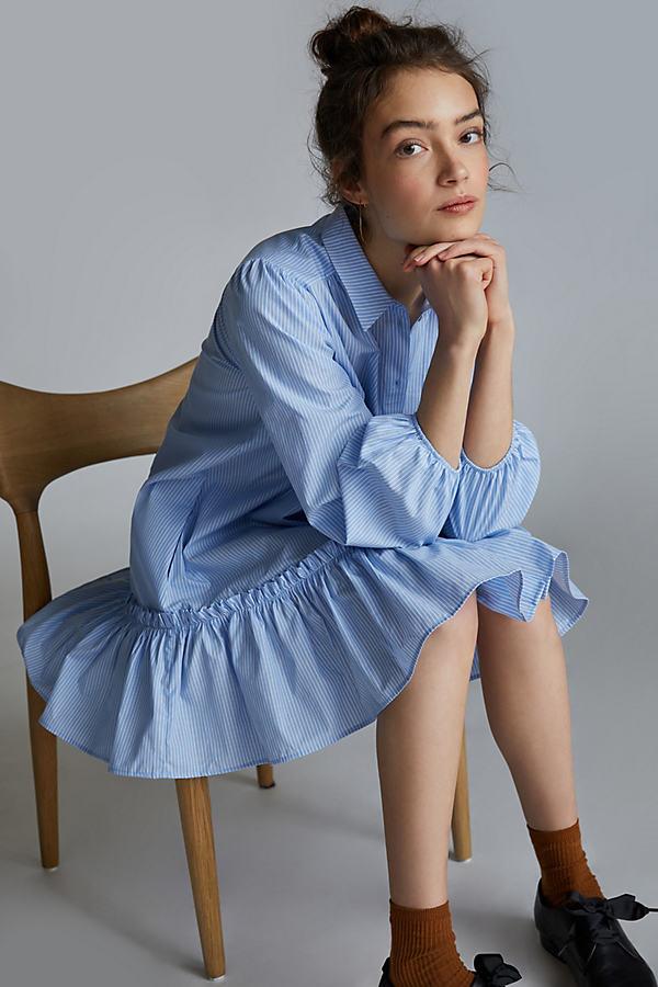 Maeve Evaline Ruffled Mini Dress