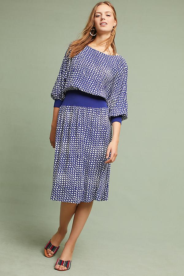 Gemma Printed Dress - Blue, Size Xl