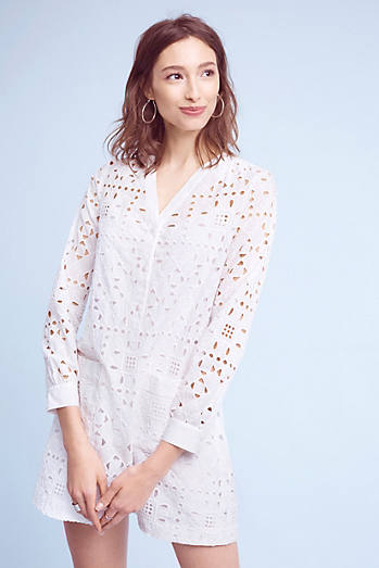 Geo Eyelet Shirtdress