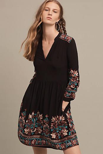Embroidered Avery Dress