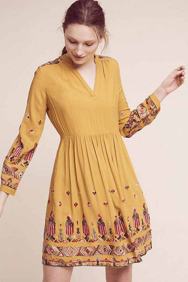 NWT Anthropologie Janine embroidered dress
