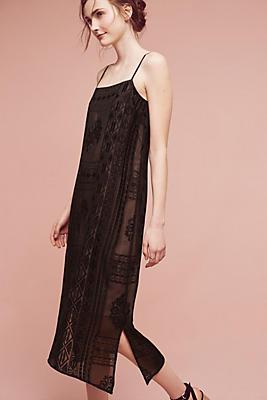 Slide View: 1: Embroidered Luna Slip Dress