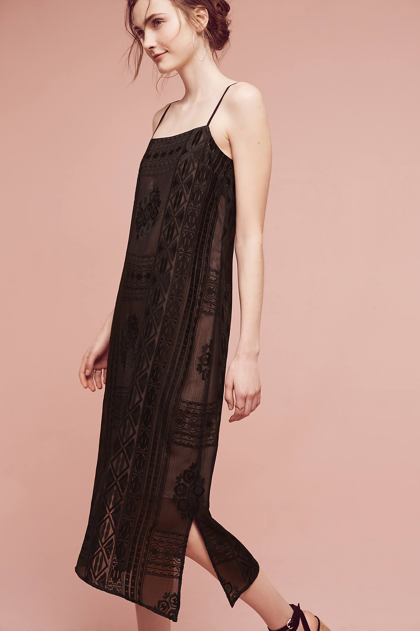 Embroidered Luna Slip Dress
