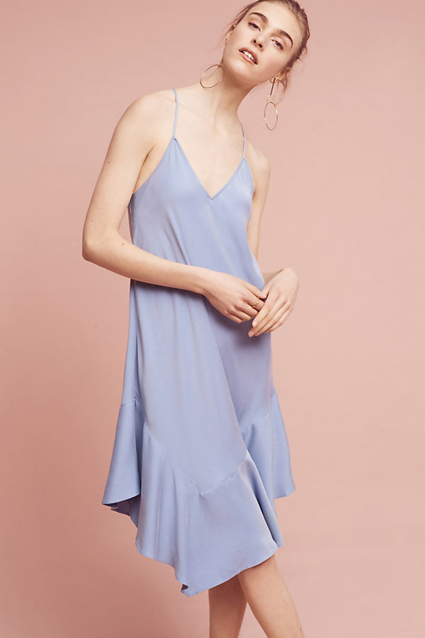 Jill Slip Dress, Blue - Sky, Size L