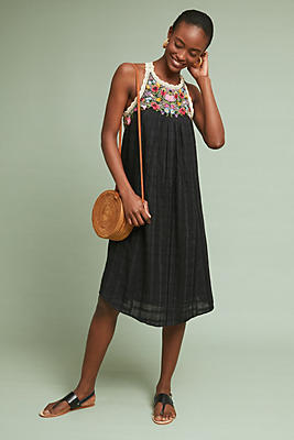 Slide View: 1: Mosley Embroidered Dress
