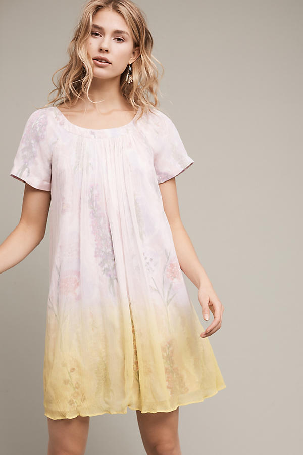 Slide View: 1: Dipped Chroma Swing Dress