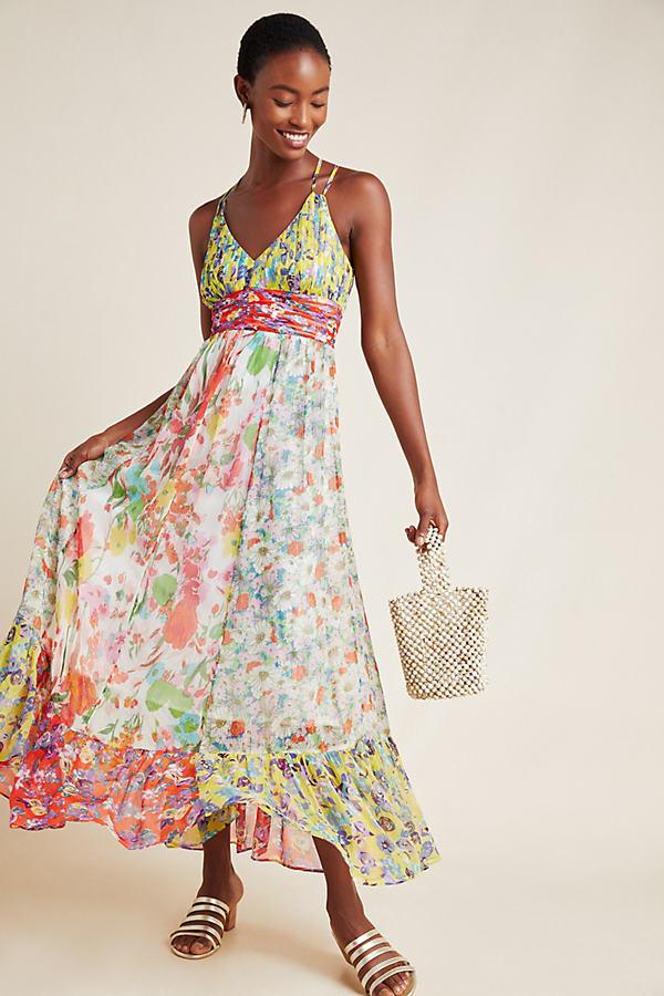 Malibu Floral Maxi Dress - Assorted, Size Uk 10