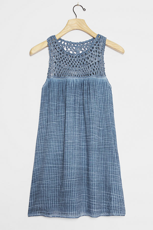 Pilcro Macrame Tunic Dress