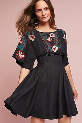 Slide View: 1: Priscilla Embroidered Dress