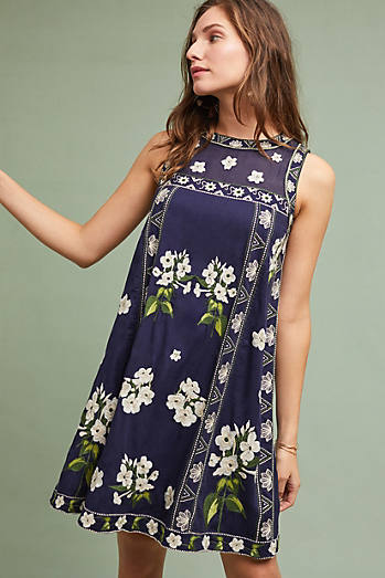 Rosa Embroidered Swing Dress