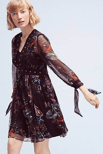 Nighttime Florals Dress