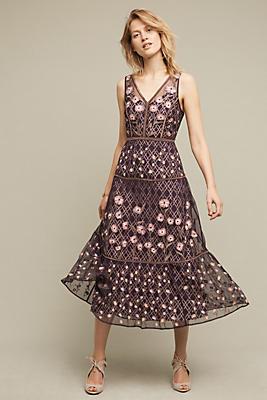Tansey Tulle Midi Dress