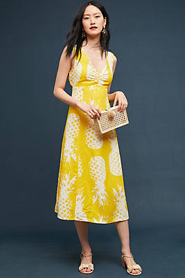 Slide View: 1: Pineapple Midi Dress