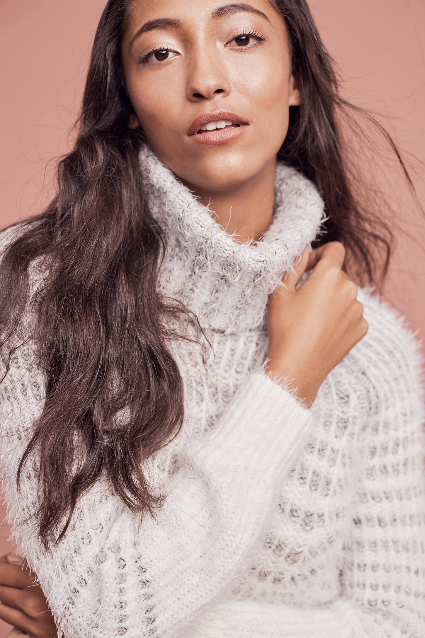 Eyelash Sweater Dress