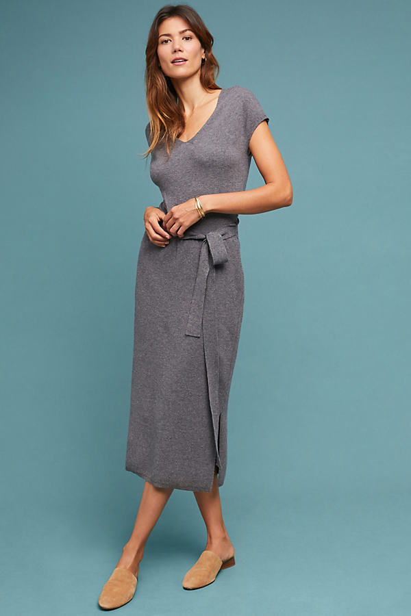 Matinee Sweater Dress - Grey, Size S Petite