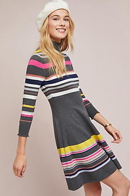 Striped Turtleneck Dress by Maeve