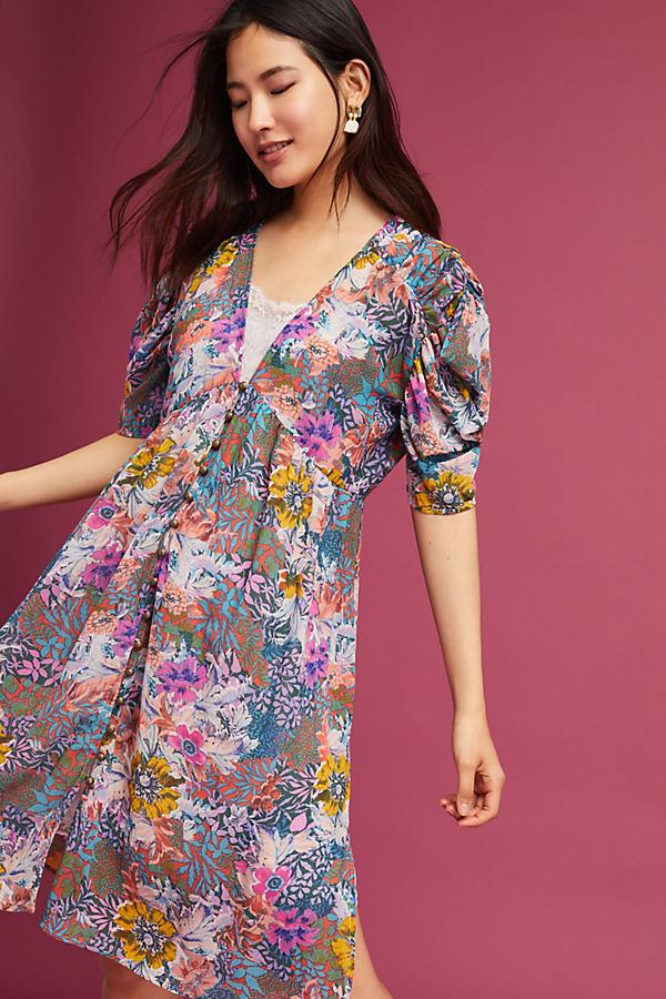 Valencia Sheer Dress, Pink - Pink, Size M Petite
