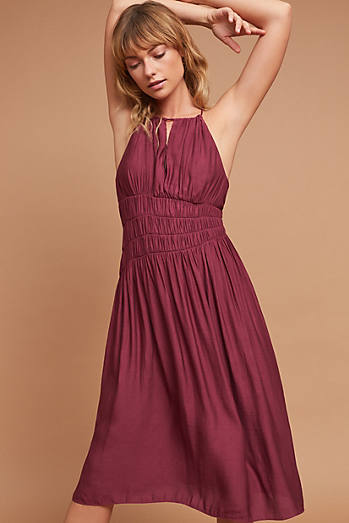 Smocked Halter Midi Dress