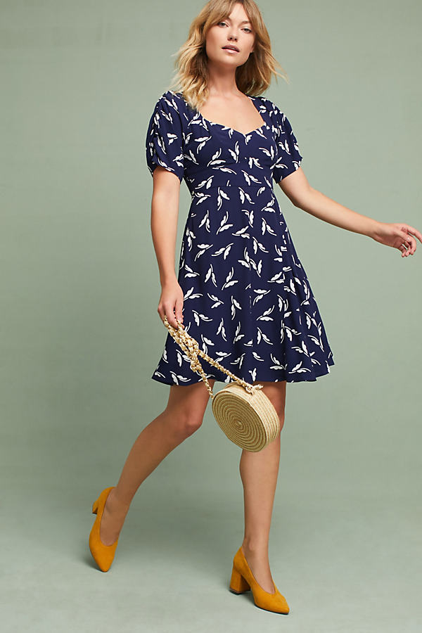 Fern Ruched Dress - Navy, Size 16 Petite
