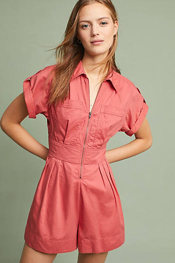 Marliene Playsuit, Orange