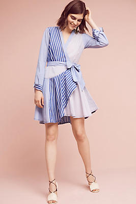 Slide View: 1: Newport Striped Shirtdress