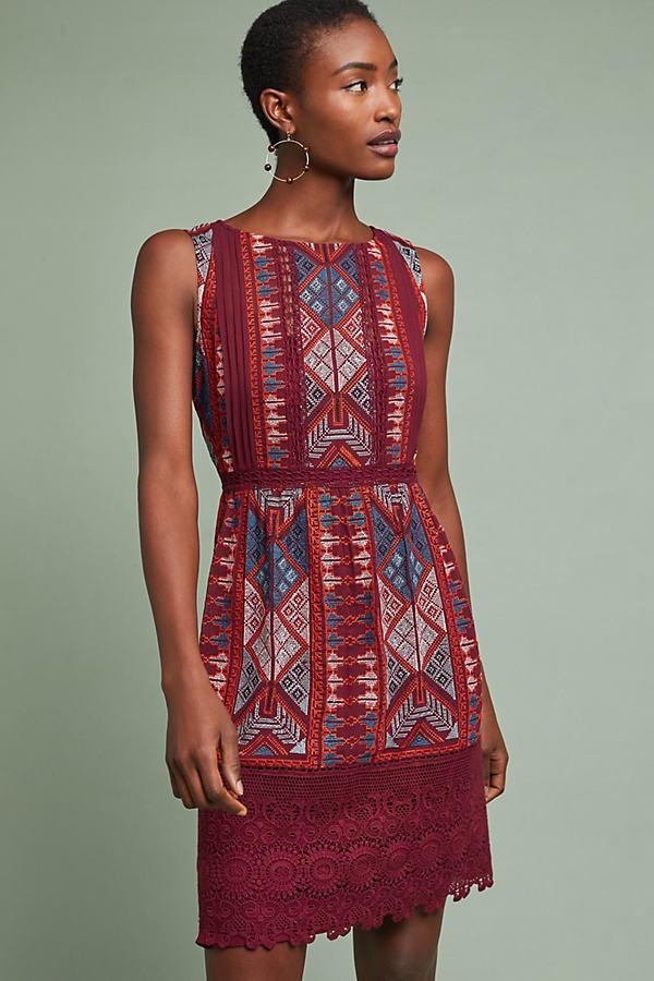 Beaumier Shift Dress - Red, Size Uk 14