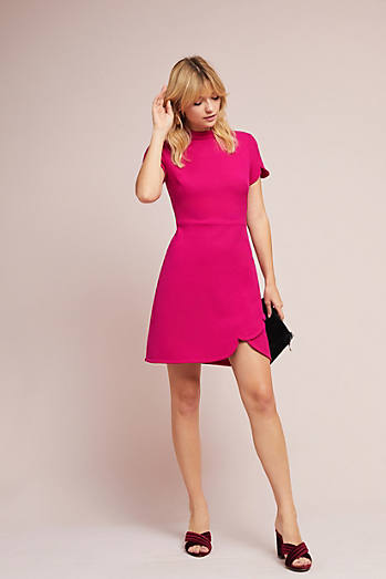 Shoshanna Katheryn Mock Neck Dress