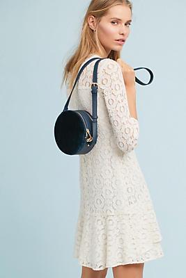 Slide View: 1: Shoshanna Asymmetrical Ruffle Dress