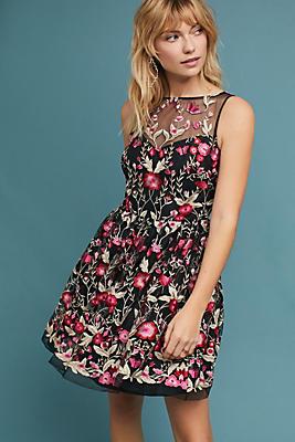 Slide View: 1: Shoshanna Embellished Floral Dress
