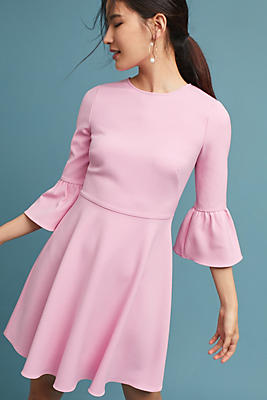 Slide View: 1: Shoshanna Dara Bell-Sleeve Dress