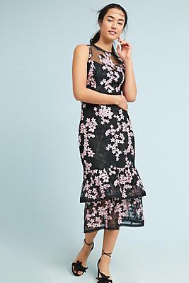 Slide View: 1: Shoshanna Dominic Tiered Midi Dress