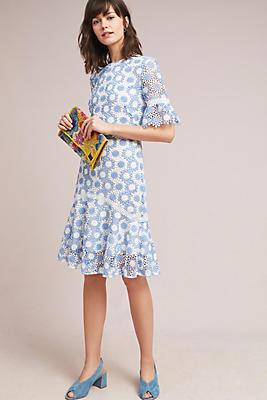 Slide View: 1: Shoshanna Crocheted Floral Dress