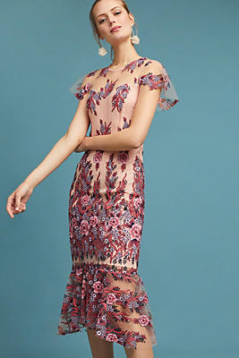 Slide View: 1: Shoshanna Loveland Embroidered Dress