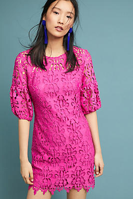Slide View: 1: Shoshanna Amelia Lace Dress