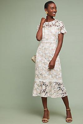 Slide View: 1: Shoshanna Beaulieu Lace Dress