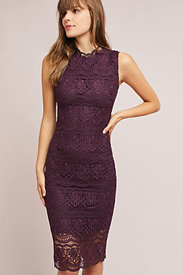 Slide View: 1: Shoshanna Layered Lace Dress