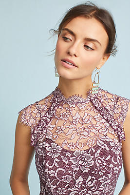 Shoshanna Lace Maxi Dress | Anthropologie