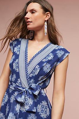 Slide View: 1: Fiona Silk Wrap Dress