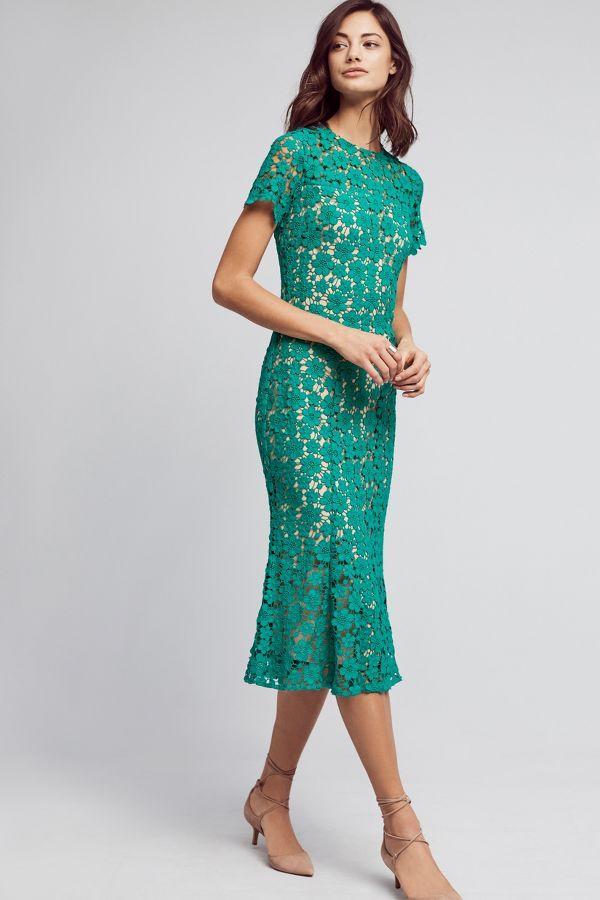 Shoshanna Symphony Lace Midi Dress