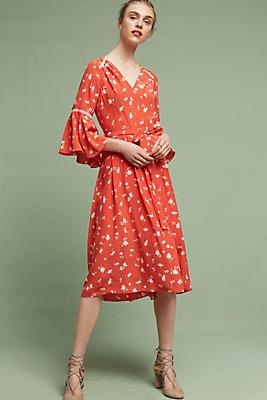 Slide View: 1: Millie Silk Midi Dress